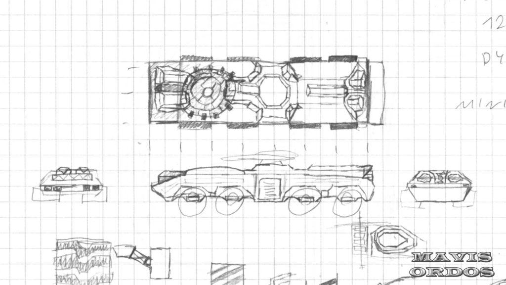 Gepard 8x8 ATV - Ostateczny szkic